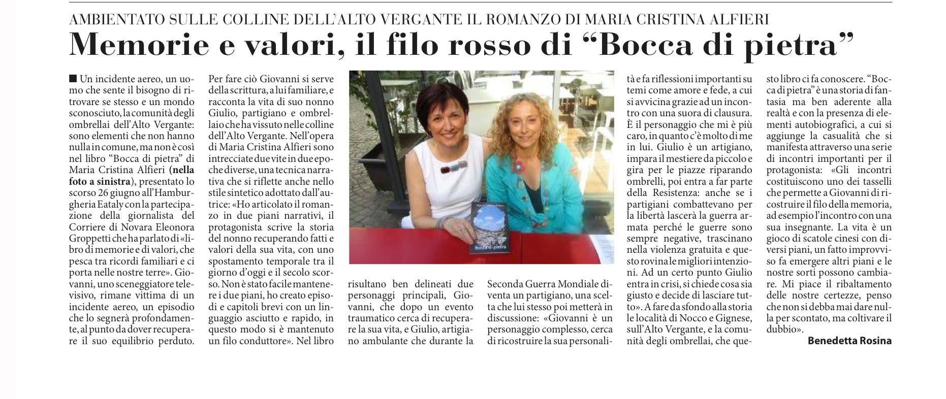 Corriere di Novara 11 luglio 2015